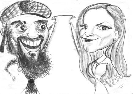 caricatură pentru invitație la nuntă