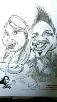 caricatură de cuplu