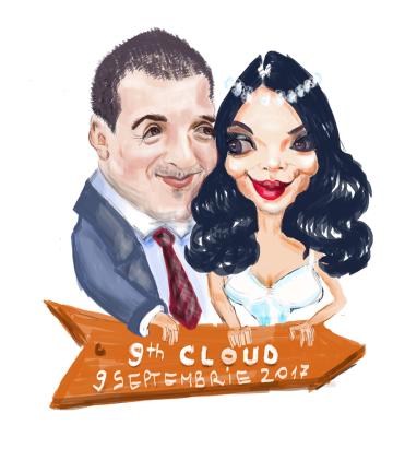 caricatură digitală pentru nuntă