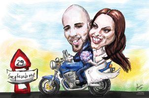 caricatură digitală de cuplu
